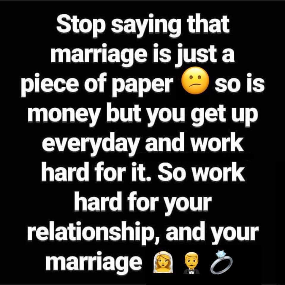work for marriage